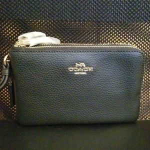 NWT Coach Double Wristlet- 2 Wallets for 1!